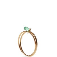 Rose Gold & Emerald Interlocking Ring by Inez and Vinoodh - Moda Operandi
