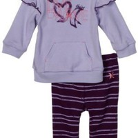 Hurley Baby-girls Newborn Hoodie Creeper Set