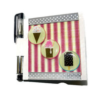 Dessert Post It Note Holder with Mini Gel Pen