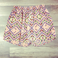 Confetti Shorts - Peach