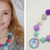 New Styles Added! Frozen Gumball Necklaces with Bottle Cap Charms!