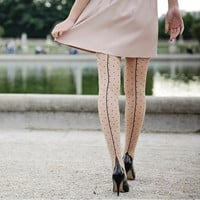 Jive Dotty Seamed Tights by Pamela Mann - $17