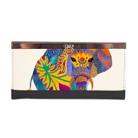 Whimsical Elephant Clasp Wallet> Pom Graphic Design
