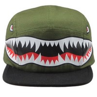 Men's Tiger Shark 5-Panel Hat by Pyknic (Green)