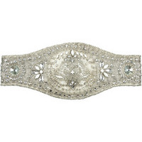 Alexander McQueen Embellished duchesse wide belt – 70% at THE OUTNET.COM
