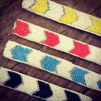 Chevron Beaded Headband