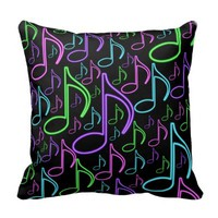 Cool and Fun Neon Eighth Note Collage