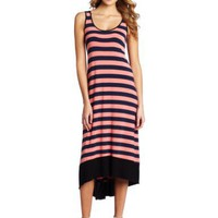 Kensie Women`s Jersey Striped Maxi Dress