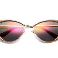 Vanity Strikes Revo Mirrored Cat Eye Sunglasses