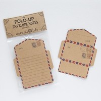 Vintage Stamps Craft Envelope Notes