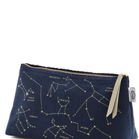 ModCloth Nifty Nerd Celestial Chateau Makeup Bag