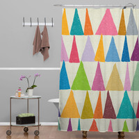Nick Nelson Analogous Shapes In Bloom Shower Curtain