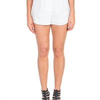 Crochet Sides Shorts - White