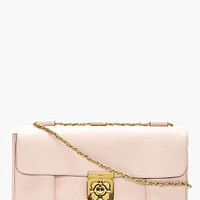 BLUSH GRAIN LEATHER ELSIE LARGE SHOULDER BAG