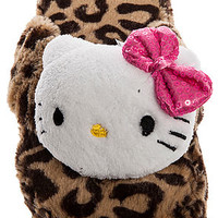 The Hello Kitty Plush Slipper in Leopard