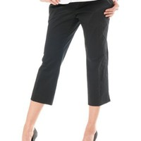 A Pea in the Pod: Secret Fit Belly(tm) Sateen Stretch Fabric Maternity Crop Pants