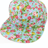 Blue Floral Snapback | Sweetrebelboutique.com | Sweet Rebel