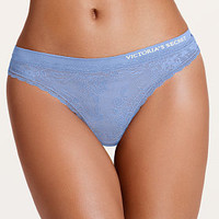 Seamless Little Lace Thong Panty - Body by Victoria - Victoria's Secret