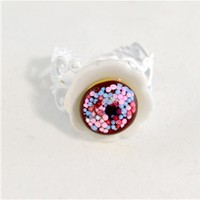 Sprinkled Chocolate Doughnut Ring