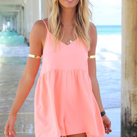 Daintree Playsuit - Coral | SABO SKIRT