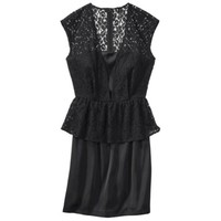 TEVOLIO Women's Lace Overlay Dress w/Peplum Waist - Assorted Colors