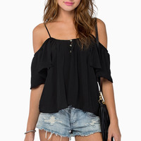 Night Fall Shoulder Top $37