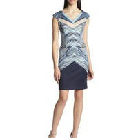 London Times Women's Printed-Scuba Sheath Dress