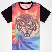 BLUE CROWN Tie Dye Tiger Boys T-Shirt