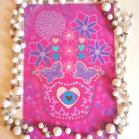 Pink Hamsa Hand  4 x 6  Art Print For Home Decor