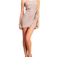 TCEC Women`s Strapless Side Tie Romper