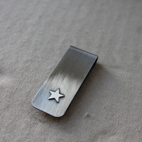 Money Clip Nickel and Sterling Silver customize by KittyStoykovich