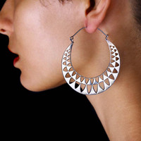 Triangle Hoop Earrings - Triangle Earrings - Triangle Jewelry - Geometric Jewelry