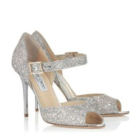 Lychee Glitter Fabric Peep Toe Pumps | Lace | Cruise 2013 | JIMMY CHOO Pumps