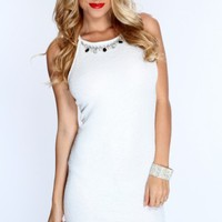 White Shimmery Crinkle Texture Sexy Party Dress