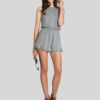 BCBGeneration Romper - Stripe Side Ruffle