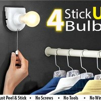 LED Instant Portable Light Bulb - 4pc
