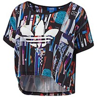 ZX Flux Post Digital Crop Tee
