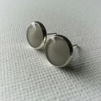 Taupe Earrings - Taupe Studs