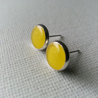 Yellow Earrings - Mustard Yellow Earrings - Yellow Earring - Canary Yellow Earrings