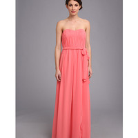 Donna Morgan Sweetheart Long Gown With Slit Dress
