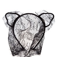 MAISON MICHEL | Lace Cat Ear Headband | Browns fashion & designer clothes & clothing