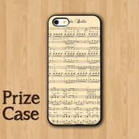 Old Piano Sheet Phone Case, Jingle Bells Song iPhone 5 Case, Samsung Galaxy S4, iPhone 5S, iPhone 5C, Personalized Phone Case, Vintage Cases