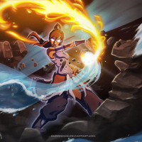 The Legend Begins Korra by Darkkenjie on Etsy