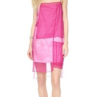 Colorblock Organza Dress