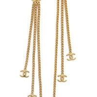 Vintage Chanel CC Dangle Earrings