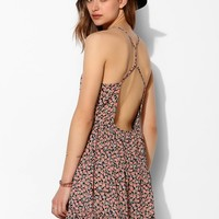 Pins And Needles Floral Cross-Back Tank Dress - Urban Outfitters
