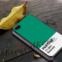Pantone Emerald Cover - iPhone 4 4S iPhone 5 5S 5C and Samsung Galaxy S3 S4 Case