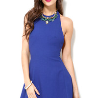 Cameo Halter Dress in Ultra Marine