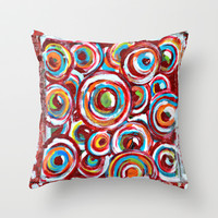 Bubbles Throw Pillow by Claudia McBain
