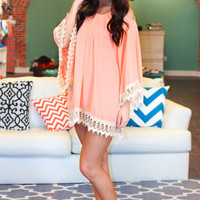 Peach Love Crochet Dress